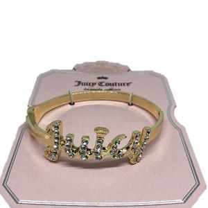 NEW JUICY COUTURE GOLD CRYSTAL BANGLE BRACELET